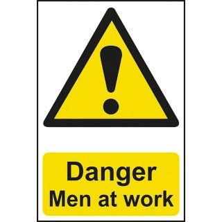 Danger Men At Work - PVC Sign 400 x 600mm
