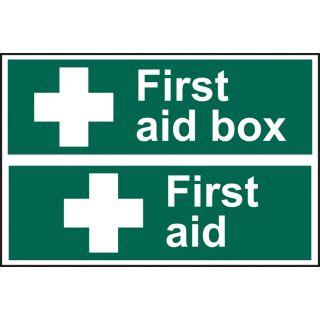 First aid box / First aid - PVC (300 x 200mm)