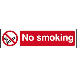 No Smoking - PVC Sign 200 x 50mm