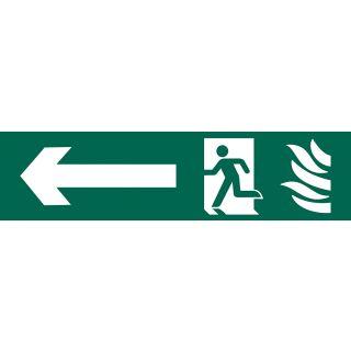 Running Man Arrow Left - PVC Sign 200 x 50mm
