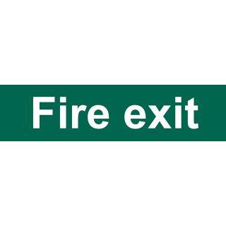 Fire Exit - PVC Sign 200 x 50mm