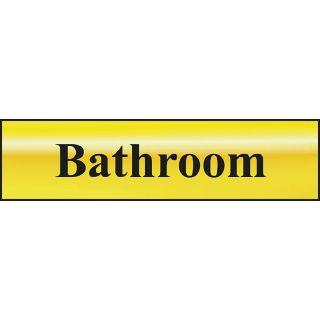 Bathroom - POL Sign 200 x 50mm