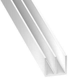 PVC Double Channel White 21 x 2mm x 2m