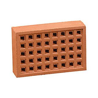 Redbank Square Hole Airbrick Red 215 x 140mm