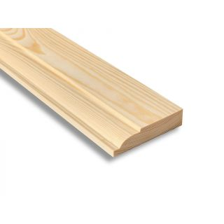 Softwood Ovolo Skirting 25mm x 100mm