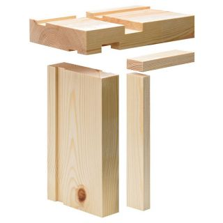 Softwood Fire Check Door Lining Set Rebated 38 x 138 x 5100mm