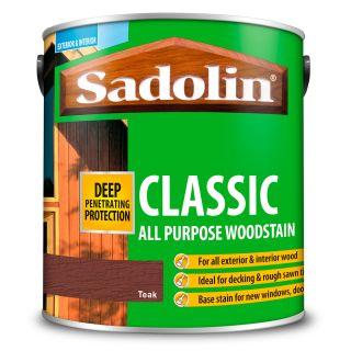 Sadolin Teak Classic Wood Stain 2.5L