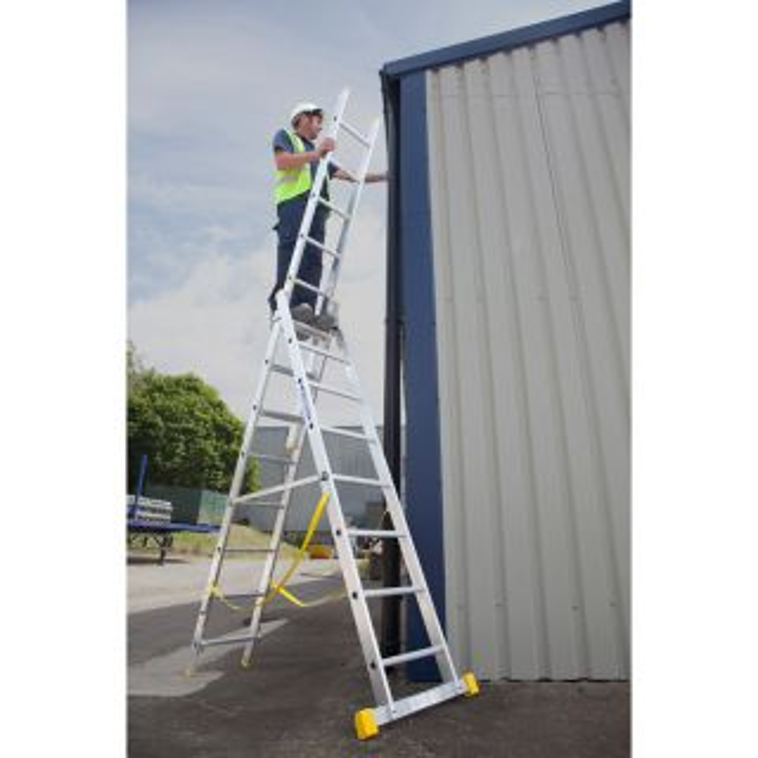 Werner 725 Series Aluminium Box Section Triple Reform Ladder 2.4m