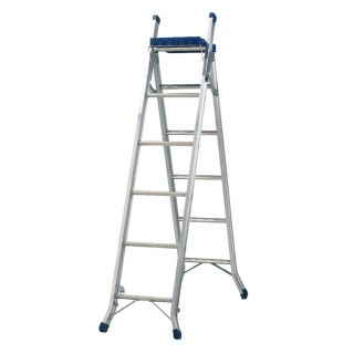 Werner 3 Way Aluminium Combination Ladder With Work Tray