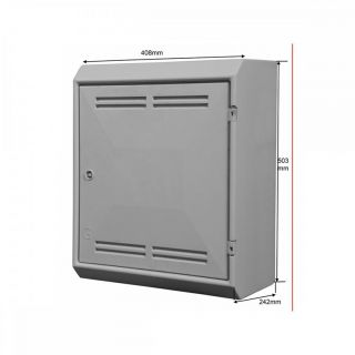 Tricel Surface Mounted Gas Meter Box 408 x 503 x 224mm