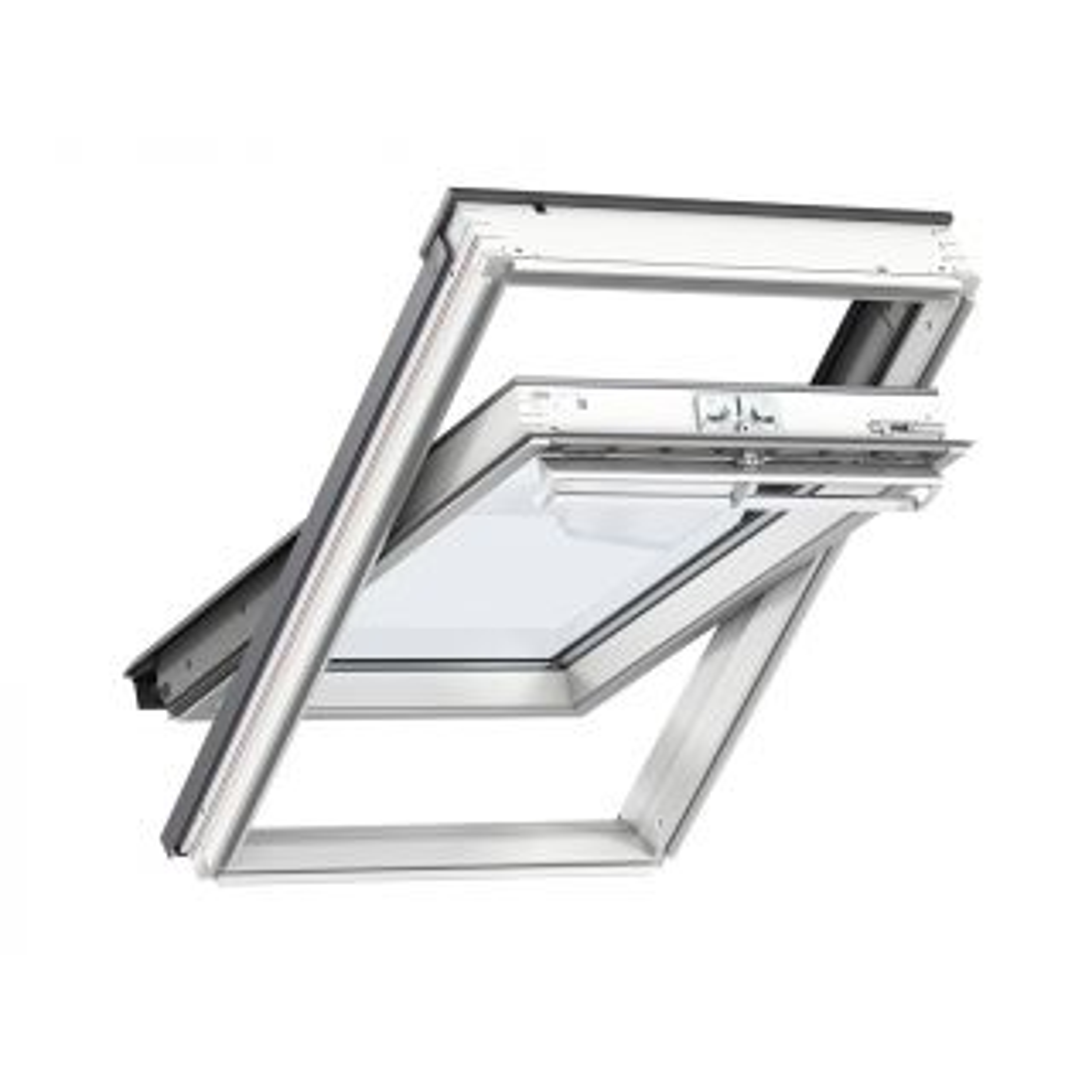 Velux White Polyurethane Centre Pivot Roof Window 550 x 980mm
