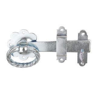 Dale Hardware Bright Zinc Plated Twisted Ring Gate Latch 152mm