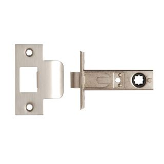 Dale Hardware Nickel Plated Tubular Mortice Latch 63mm