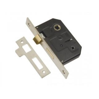 Dale Hardware Polished Stainless Steel Bolt Through Bathroom Lock 76mm