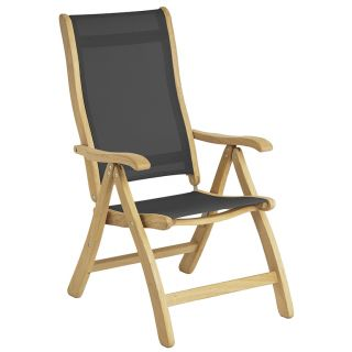 Alexander Rose Roble Recliner Chair with Charcoal Sling