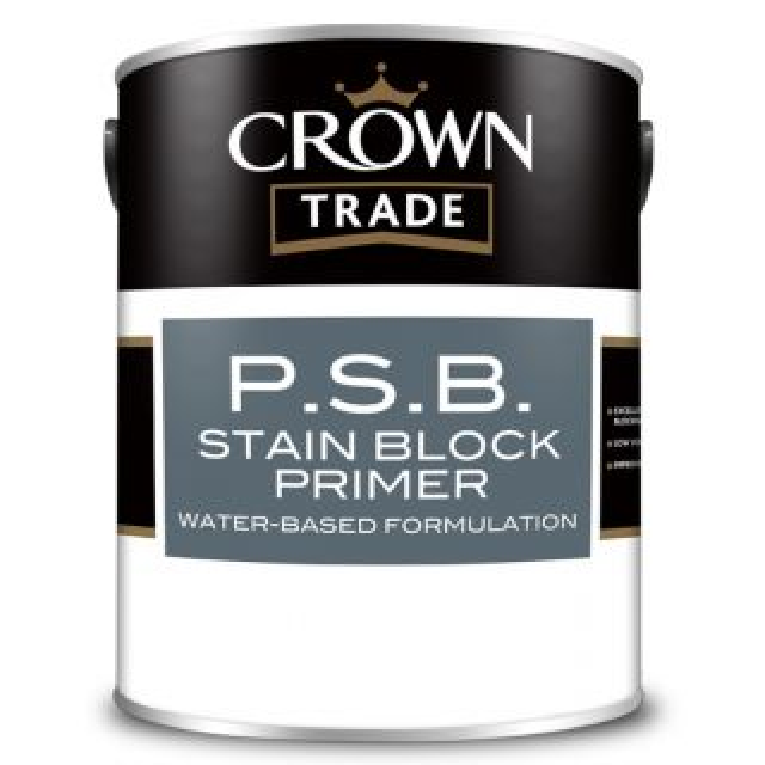 Crown Trade Stain Block Primer White 1L