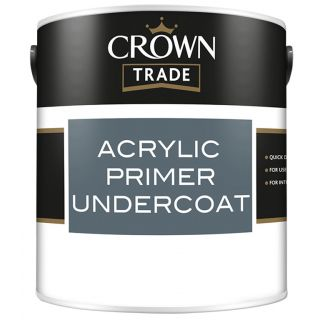 Crown Trade Acrylic Primer Undercoat White 2.5L