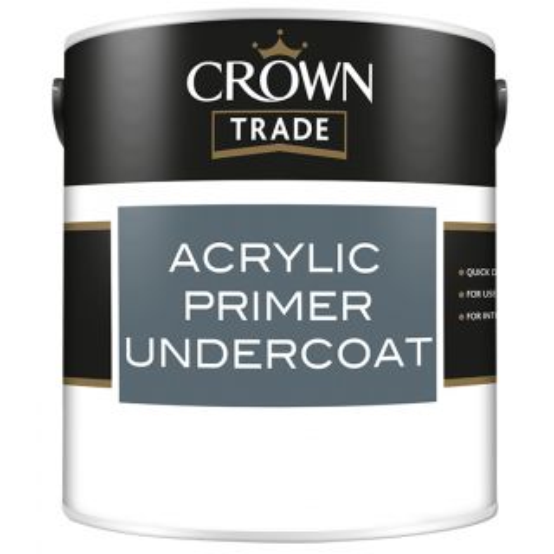 Crown Trade Acrylic Primer Undercoat White 2.5L