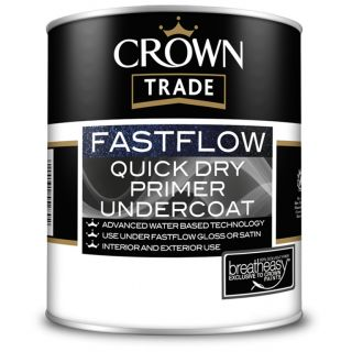 Crown Trade Fast Flow Quick Dry Primer/Undercoat Charcoal Grey 2.5L
