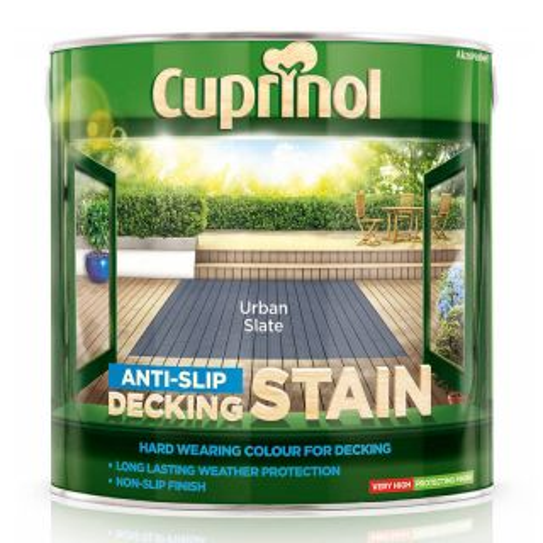 Cuprinol Anti-Slip Decking Stain Urban Slate 2.5L
