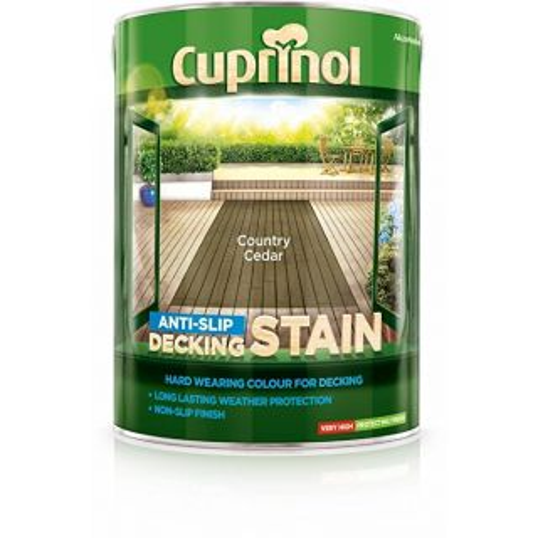 Cuprinol Anti-Slip Decking Stain Country Cedar 5L