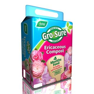 Westland Gro-Sure Ericaceous Compost Pouch & 4 Month Feed 10L