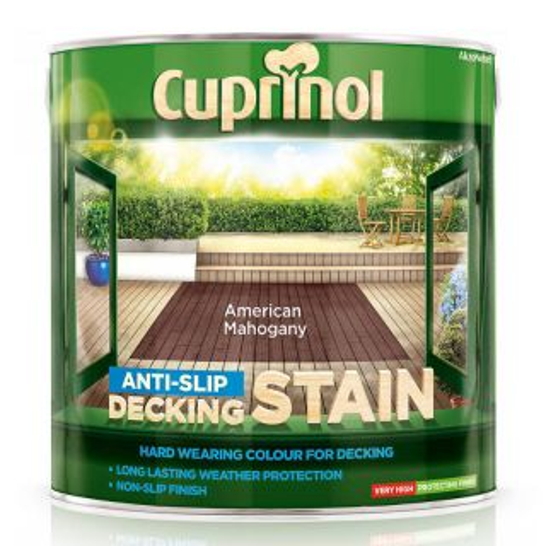 Cuprinol Anti-Slip Decking Stain American Mahogany 2.5L