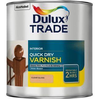 Dulux Trade Quick Dry Varnish Clear Satin 1L