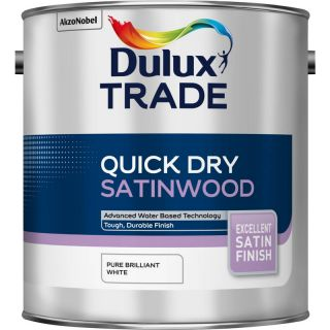Dulux Trade Quick Dry Satinwood Pure Brilliant White 1L
