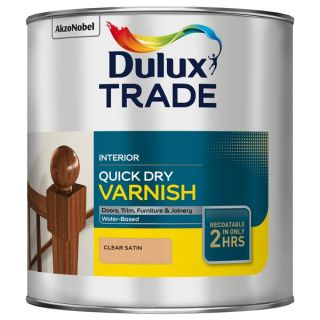 Dulux Trade Quick Dry Varnish Clear Satin 2.5L