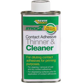 Everbuild CONTHIN025 Stick2 Contact Adhesive Thinner & Cleaner 250ml