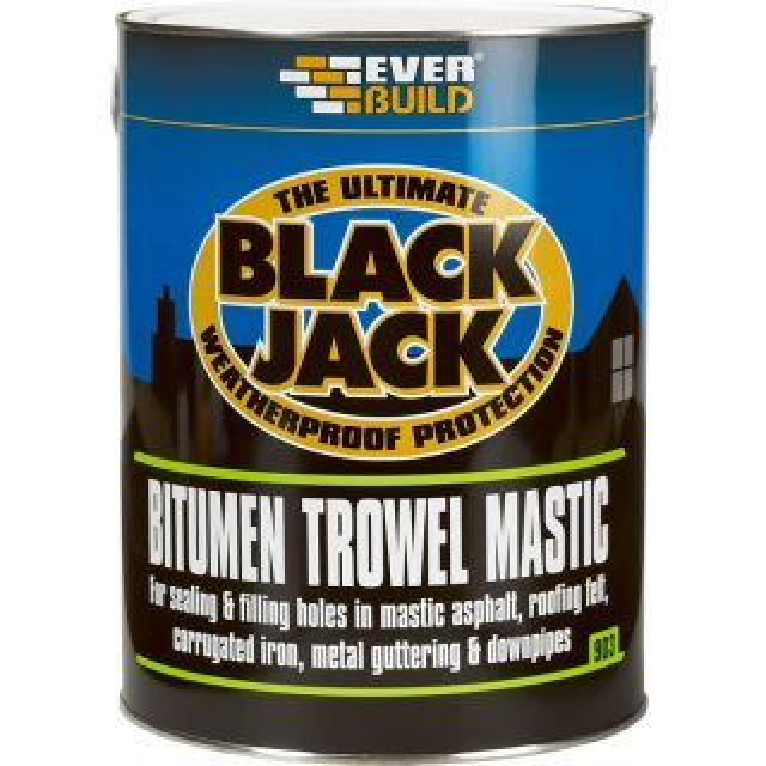 Everbuild Black Jack Bitumen Trowel Mastic 5L