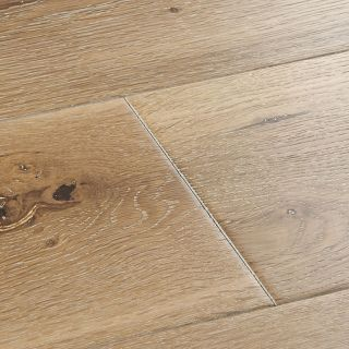 Woodpecker York White Washed Oak Brushed & Lacquered Solid Wood Flooring 300 x 150 x 18mm - 1.98m² Per Pack