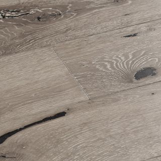 Woodpecker York Grey Washed Oak Brushed & Lacquered Solid Wood Flooring 300 x 150 x 18mm - 1.98m² Per Pack