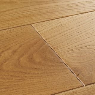 Woodpecker York Select Oak Brushed & Lacquered Solid Wood Flooring 300 x 150 x 18mm - 1.98m² Per Pack