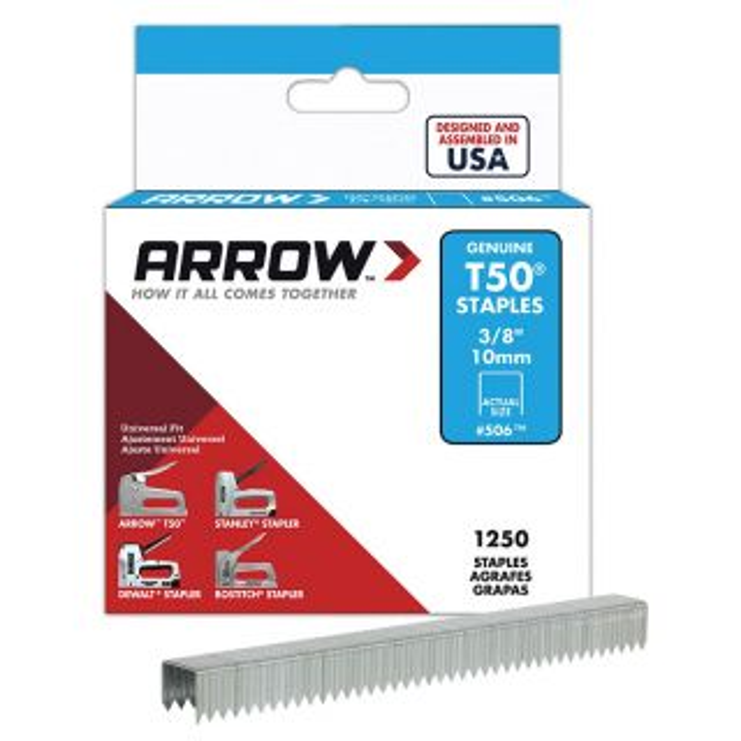 Arrow Staples 10mm (3/8in) Box 1250