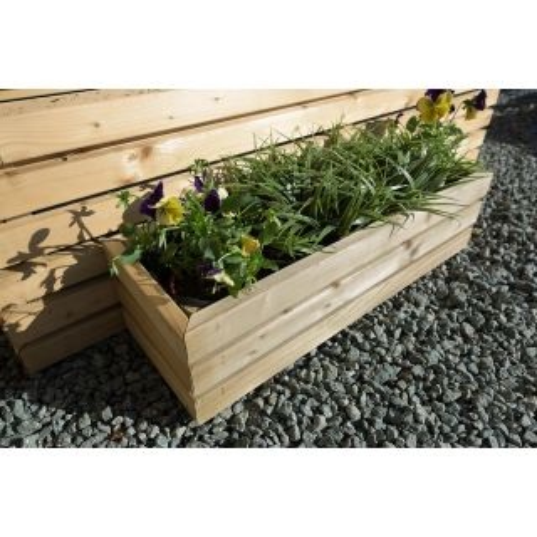 Small Contemporary Rectangular Planter 150 x 600 x 200mm