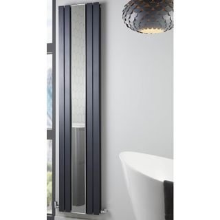 Highlife Appin Anthracite Vertical Radiator with Mirror 381 x 1800mm