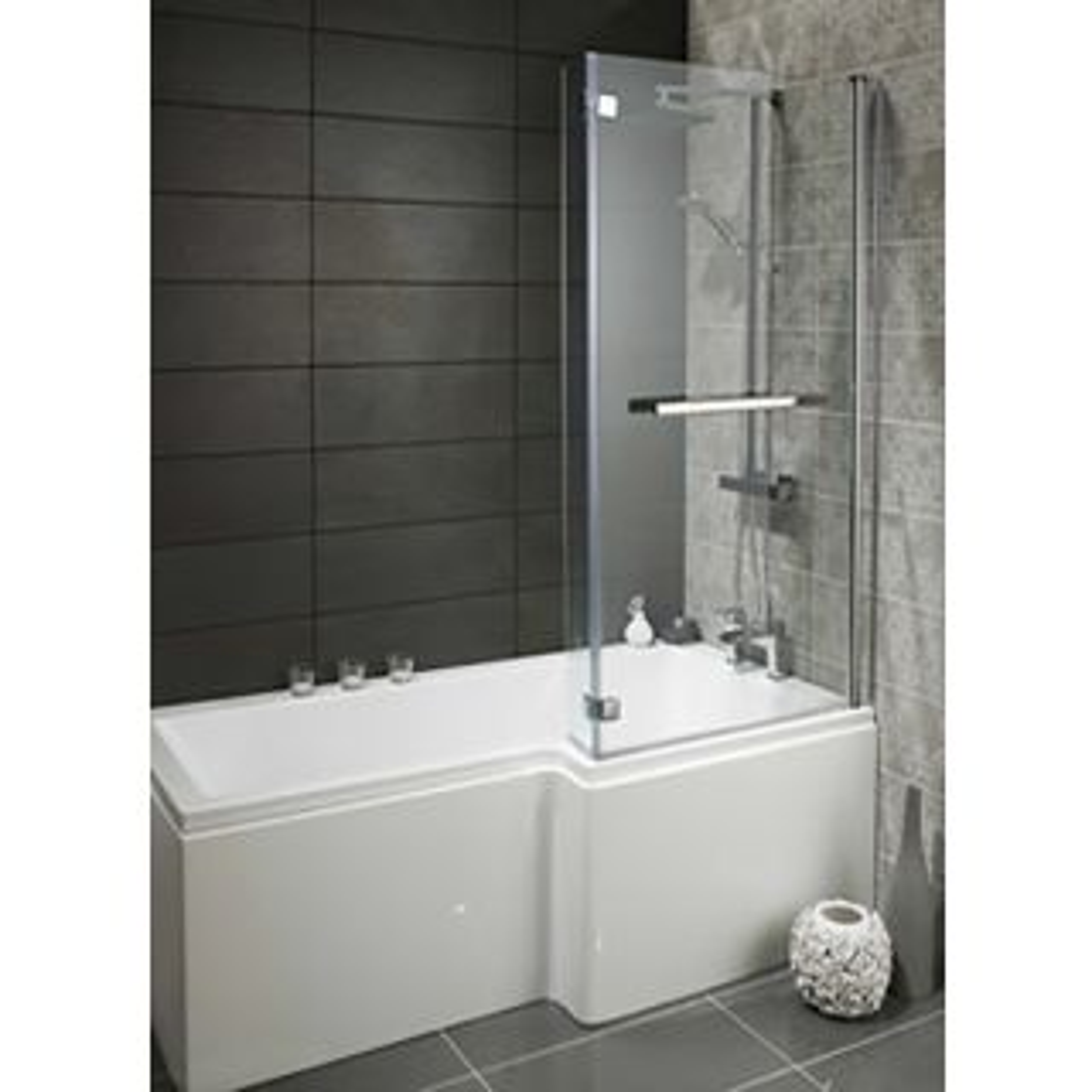 Highlife Skye Square L Shape Left Hand Bath 1700 x 700 x 550mm