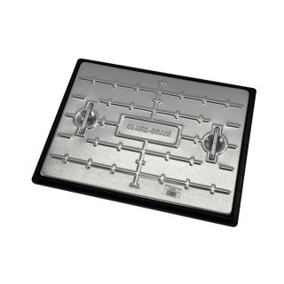 Clark Drain PC6AG Galvanised Steel Covers & Frame 600 x 450 x 30mm