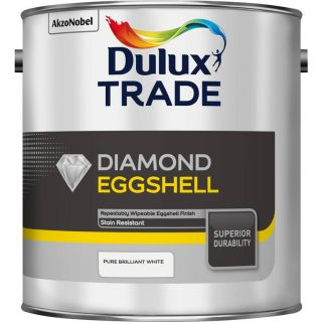 Dulux Trade Diamond Eggshell  Pure Brilliant White 2.5L
