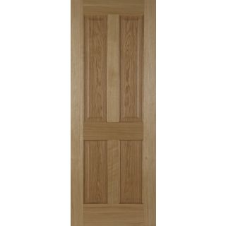 Mendes Un-finished Oak 4 Panel with Raised Mouldings FD30 44 x 2032 x 813mm