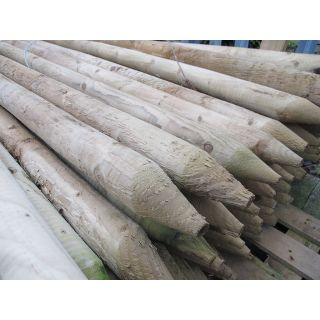 Diamond Pointed Fence Post 2400mm (73mm Dia)