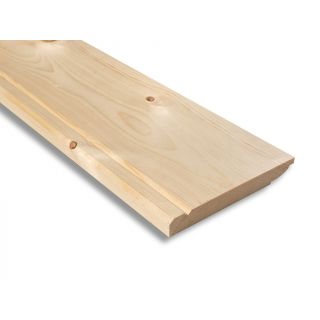 Softwood V.Grooved & Chamfered/Ovolo Reversible Skirting 175 x 25mm